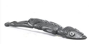 Lizard Man Figure & Canoe Prow